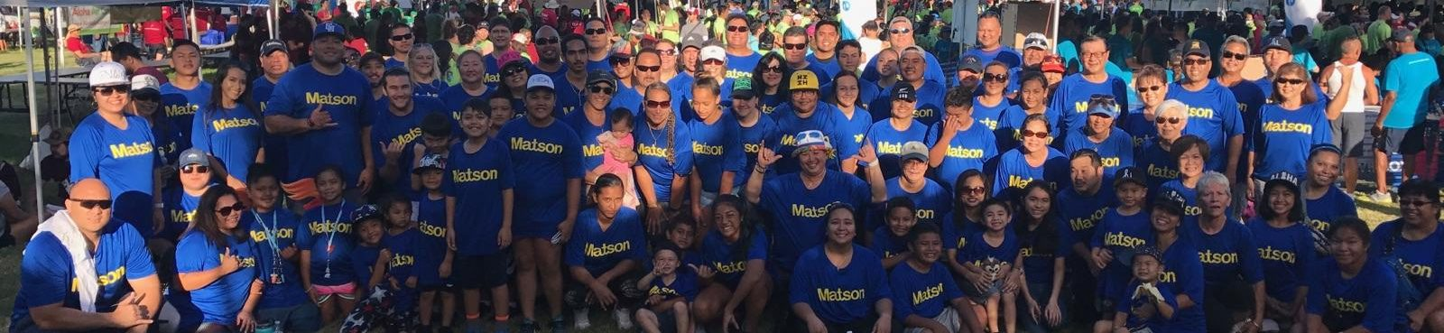 Matson participants at 2017 Heart and Stroke Walk in Honolulu