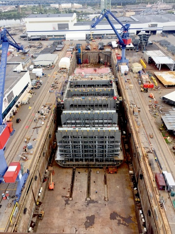 DKI assembly 11 months after the first steel cut